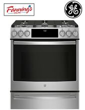 GE Profile 5 Burner 5 6 cu ft Self cleaning Slide In stove Convection Gas Range
