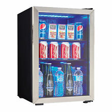Danby 95 Can 2 6 Cu  Ft  Beverage Center Soda   Beer Mini Fridge Refrigerator