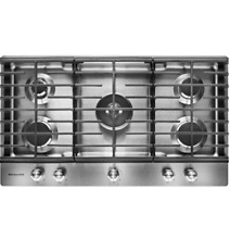 KitchenAid KCGS556ESS 36  Stainless Built In Gas Cooktop NOB  23115