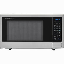 Full Size Countertop Microwave  1100 Watts  Stainless Steel  1 8 Cu  Ft