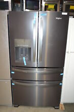 Whirlpool WRX735SDHV 36  Black Stainless French 4 Door Refrigerator NOB  23371