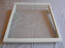Refrigerator Slide Out Glass Shelf Spill Proof GE Profile Side By Side 30 CUFt