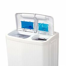 Washing Machine Dryer 2 in 1 Portable Washer Spin Laundry Load Wash Drain Pump