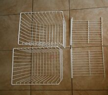 4X USED ORIGINAL FRIDGIDAIRE KENMORE REFRIGERATOR FREEZER LARGE BASKETS   SHELFS