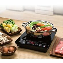 Induction Cooker Cooktop 5 Pre Programmed Setting Stove With Stainless Steel Pot