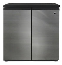 Mini Fridge Refrigerator Freezer Stainless Steel 5 5 Cubic Feet Side by Side Doo