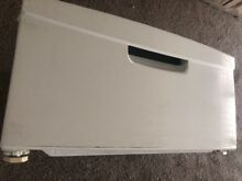 Samsung 27  Washer   Dryer Pedestal Model  WE357AOW Color  White   Dented