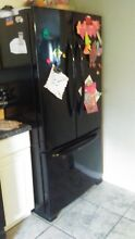 Maytag refrigerator french doors  25 cu ft  Ice maker  Adjustable shelves