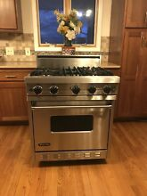 Viking Range Pro 30  model VGIC307 4BSS  All Gas  large oven  4 sealed Burners