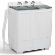 Portable Washing Machine Indoor Small Electric with Spin Dryer 11 lbs Capacity