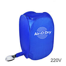 220V Portable Electric Air Clothes Dryer Folding Fast Drying Machine Bag Box