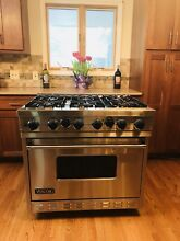 VIKING RANGE   Self Cleaning  VGSC3676BSS 36  PRO  6 Sealed Burners  Warranty