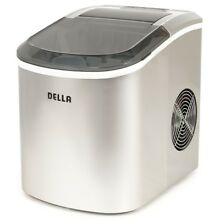 Portable Compact Della Ice Maker  Makes 26 lb day  LED light   Silver