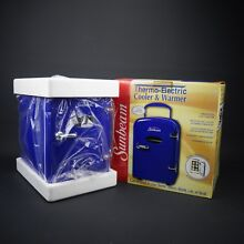 Sunbeam Personal Thermo Electric Cooler   Warmer Retro Blue   New Open Box
