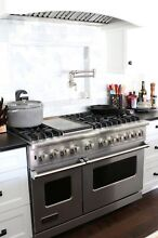 NEW Viking Range 48  VDSC5486GSS Pro Dual Fuel 6 Burners  Griddle  Self Cleaning