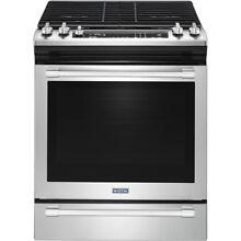 Maytag MGS8800FZ 30  Stainless Slide In Gas Range 5 8 CU Convection oven