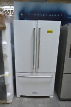 KitchenAid KRFF305EWH 36  White French Door Refrigerator NOB  24414 HL