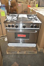 BlueStar RNB364GV1 36  Stainless Freestanding Gas Range w Griddle NOB  15567