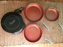 Nuwave precision induction cooktop  GENTLY used WITH 3 FRY PANS