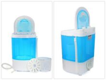6 6 Lbs Portable Mini Washer and Spin Dryer Electric Combo Spin Dryer Basket
