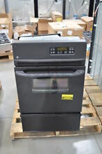GE JGRP20BEJBB 24  Black Single Gas Wall Oven NOB  24830 HL