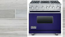 New COBALT BLUE Gas Viking Range 36   5 Series  Free dishwasher