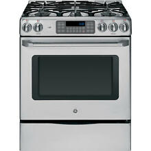 GE CGS975SEDS 30  Stainless Slide In Gas Range w 5 Burners NIB  7050 HL