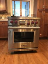 Wolf DF304 Stainless Steel 30 in  Dual Fuel Kitchen Range