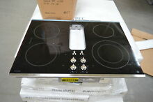 GE PP9830SJSS 30  Smoothtop Downdraft Electric Cooktop NOB  24885 HL