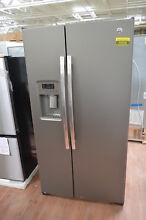 GE GSS25GMHES 36  Slate Side by Side Refrigerator NOB  25368 HL