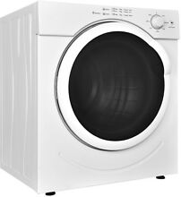 White Dryer Machine 27 lbs 3 21 Cu  Ft  Heavy Duty Tumble Dry Compact Cloths New