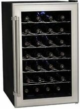 Koldfront TWR282 28 Bottle Wine Cooler W  Thermoelectric Cooling 18  Wide Fridge