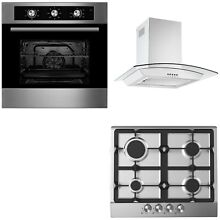 Oven Pack Cookology Built in Electric Fan Oven  Cast Iron Gas Hob