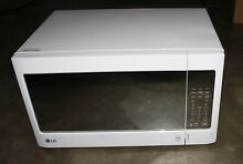 USED LG LCS1413SW Countertop Microwave Oven with EasyClean  1 4 cu  ft  White