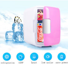 12V 4L Portable Mini Fridge Thermoelectric Cooler Warmer Car Travel Ice Box Pink