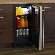 Marvel SS AND BLACK BAR REFRIGERATOR WITH GLASS DOOR 15IN WIDE ML15BCG2RS