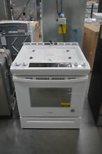 Whirlpool WEG515S0FW 30  White Slide In Gas Range NOB  26019 HL