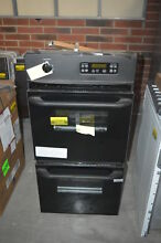 GE JRP28BJBB 24  Black Double Electric Wall Oven NOB  25849 HL
