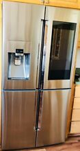 Samsung 22 CF Black Stainless French Door Refrigerator Family Hub RF22K9581SG