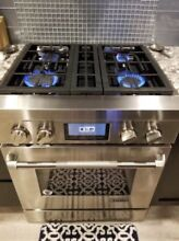 Jenn Air Range 30  Stainless Steel  Dual Fan Multimode Convection  All Gas
