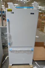 Maytag MBF1958FEW 30  White Bottom Freezer Refrigerator NOB  26142 HL