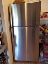Like new  Whirlpool refrigerator  stainless steel  18 2 cubic