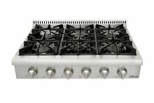 Thorkitchen Pro Style Gas Rangetop with 6 Sealed Burners  36   Inch  Stainles