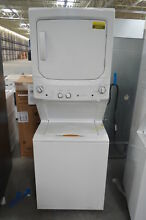 GE GUV27ESSMWW 27  White Stacked Electric Laundry Center NOB  26371 HL