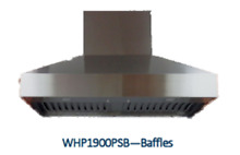 Imperial Wall Pyramid Pro Style Baffle   24  Depth  14  High   Range Hood  Stove