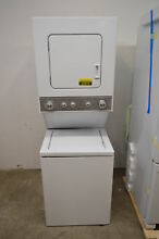 Whirlpool WET4024EW 24  White Electric Laundry Washer Dryer Center NOB  22919 HL