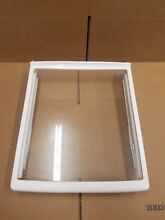 WHIRLPOOL REFRIGERATOR GLASS SHELF WITH DELI DRAWER RAILS PART  W10205737