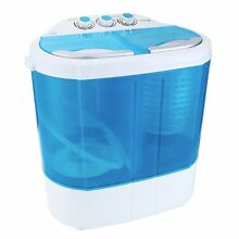 Compact Washing Machine With Spin Dryer Twin Tub Laundry For Small Apartments