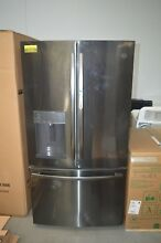 GE GFD28GBLTS 36  Black Stainless French Door Refrigerator NOB  27691 HL