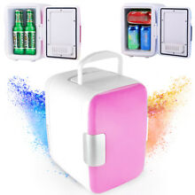 4L Mini Thermoelectric Portable Cooler Warmer Refrigeration Heating For Car Pink